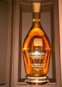 The Duke of York's Special Reserve Glenmorangie single cask bottling. Image courtesy Gavel & Grand/Children In Crisis.