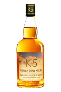K5 Himalayan Whisky. Image courtesy Spirits of Bhutan.