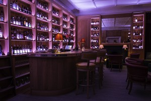 The newly-renovated Quaich Bar at the Craigellachie Hotel in Craigellachie, Scotland. Photo ©2014 by Mark Gillespie.