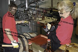 Maker's Mark Distillery workers. Illustration ©2015 by Mark Gillespie.