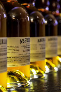 Aberlour A'Bunadh bottles on display at the distillery. Photo ©2015 by Mark Gillespie.
