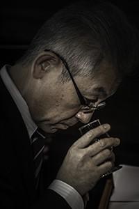 Suntory Chief Blender Shinji Fukuyo. Photo ©2015 by Mark Gillespie.