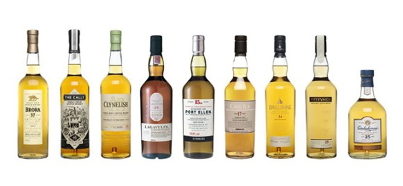 Diageo's 2015 Special Releases from the Classic Malts range. Image courtesy Diageo.