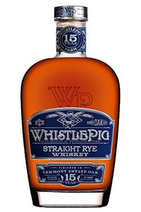 WhistlePig Rye Vermont Estate Oak Whiskey. Image courtesy WhistlePig Farm.