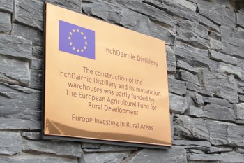 Scotland's InchDairnie Distillery received European Union funding for its construction. Photo ©2016, Mark Gillespie/CaskStrength Media.