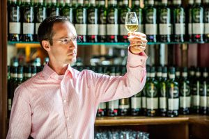 """Flavour Behaviour"" test creator Dr. Adam Moore. Photo courtesy Scotch Malt Whisky Society."