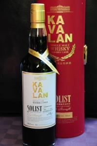 "The Kavalan Solist single cask bottling for ""Drink Fun"" that won Supreme Champion honors in the 2016 Malt Maniacs Awards. Photo courtesy Malt Maniacs."