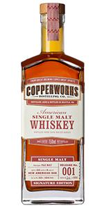 Copperworks American Single Malt. Image courtesy Copperworks Distilling.