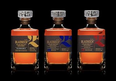 Bladnoch's new series of single malt Scotch Whiskies. Images courtesy Bladnoch Distillery.