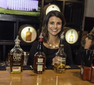 One of Heaven Hill's bartenders during the All-Star Bourbon Sampler at the Kentucky Bourbon Festival in Bardstown, Kentucky. Photo ©2017, Mark Gillespie/CaskStrength Media.