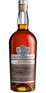 Glynnevan Double Barreled Canadian Rye Whisky. Image courtesy Authentic Seacoast Distilling.