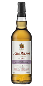 The John Milroy Selection Fettercairn 10 Years Old. Image courtesy Spirit Imports.