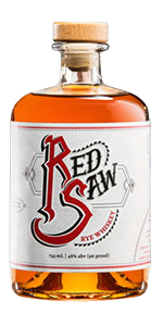 Red Saw Rye Whiskey. Image courtesy Honeoye Falls Distillery.