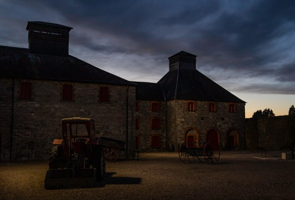 We're in Ireland this week with the folks from Powers Whiskey, and this was the scene at sunset Wednesday at the Old Midleton Distillery. Photo ©2018, Mark Gillespie/CaskStrength Media.