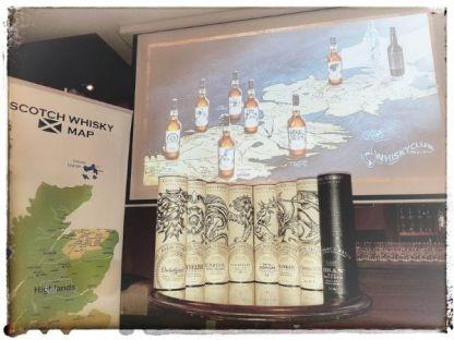 Primera parte de la cata de Juego de Tronos en Whisky Club Madrid