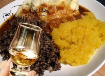 Celebramos la noche de Burns con whisky y haggis en Whisky Club Madrid