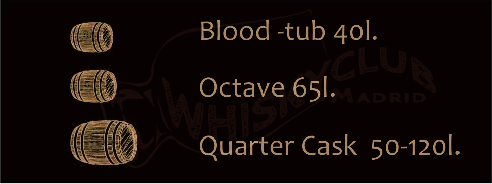 A. barricas blood tub - octave - cuarter cask
