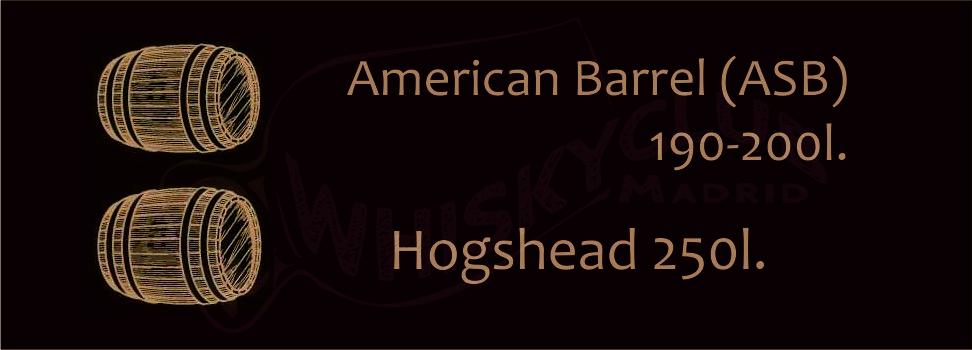 B. barricas hogsheads - american standard barrel