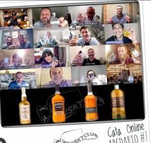 Cata de whisky online en el club