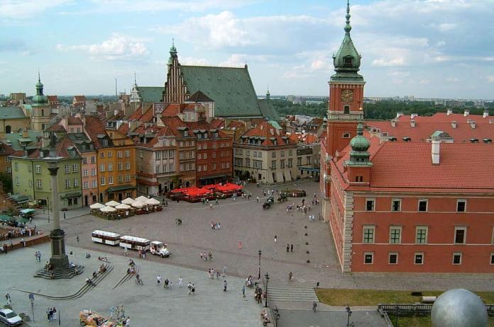 Schlossplatz in Warschau/Polen