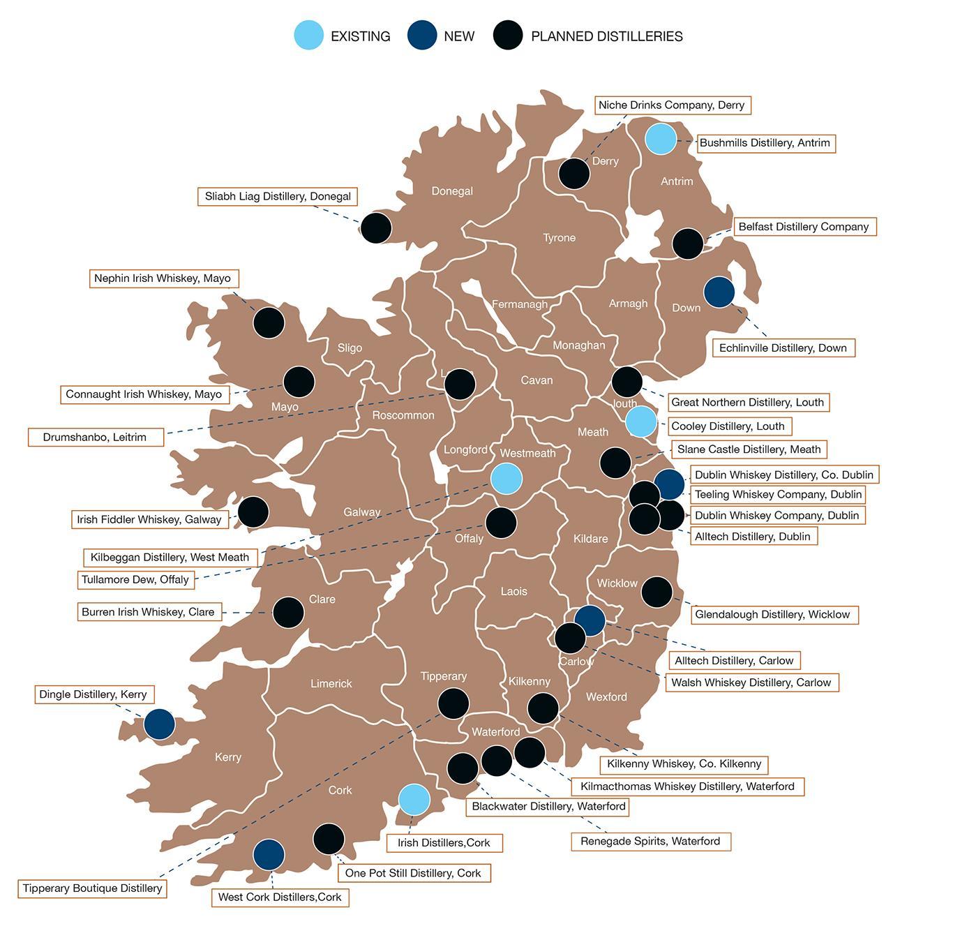 Irland Karte Pdf.Irische Destillerien Eine Aktuelle Karte Whiskyexperts