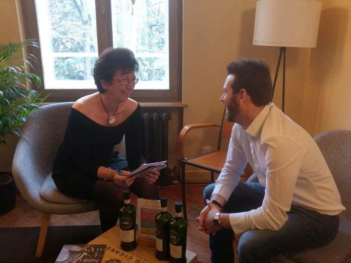 Petra Milde im Gespräch mit Mark van der Vijver