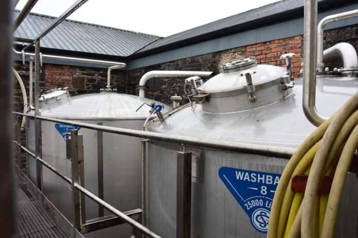 Washbacks vor der Tür - Glen Scotia Distillery