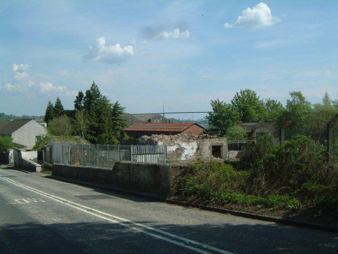 Die letzten Reste von Littlemill vor der Verbauung. Foto von Potstill.org