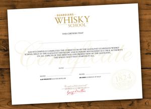 Whiskyschool Zertifikat