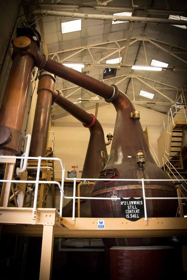 Die Stills in der Destillerie Bunnahabhain