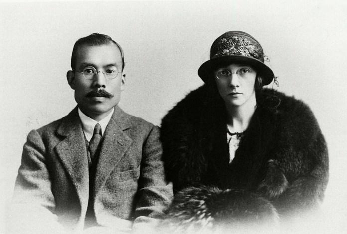 Der Gründer von Nikka Whisky, Masataka Taketsuru und seine Frau, Rita. Bild Nikka Whisky/Asahi Brauerei