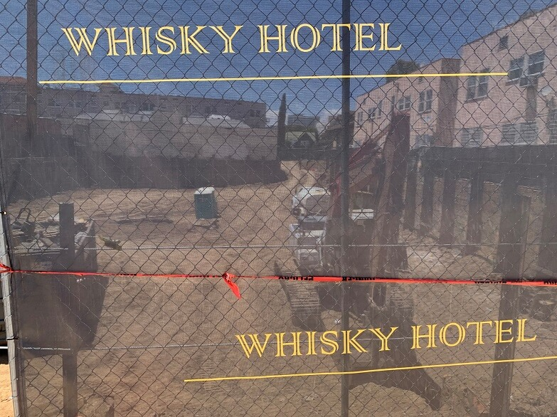 Project progress Whisky Hotel in Hollywood