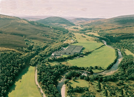 small file Tomintoul Distillery aerial view