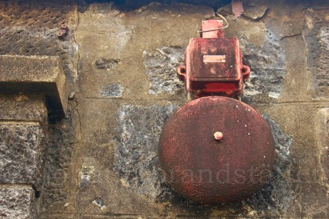 Alarm bell at the closed Convalmore Distillery