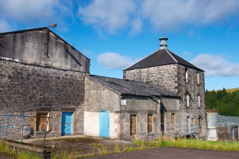 Abandoned buildings at the Convalmore Distillery