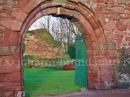 Gates to Lindores Abbey