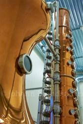 Pot still and rectifier column at the Aurora Spirit Distillery