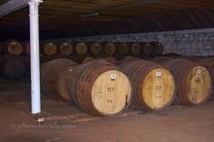 Inside a warehouse, Parkmore Distillery