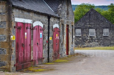 Warehouses at the closed Parkmore Distillery