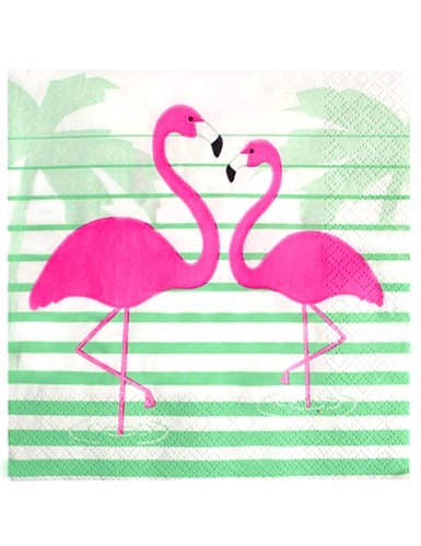 Tropical Pink Flamingo Paper Napkins Hawaiian Luau Party | via Amazon
