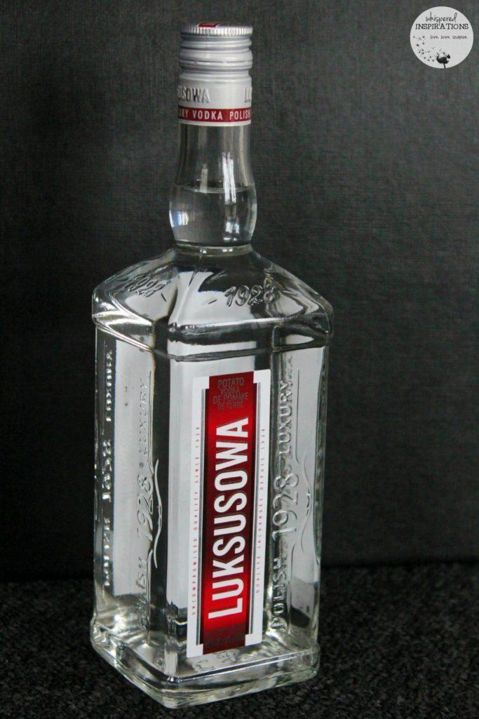 Luksosowa Vodka bottle, ready to be served.