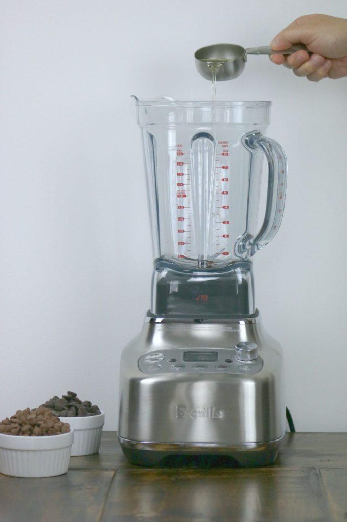 Peanut oil is being added to Breville Super Q blender.