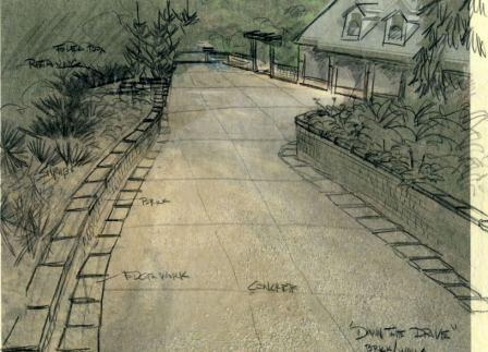 rendering in layout pencil for driveway