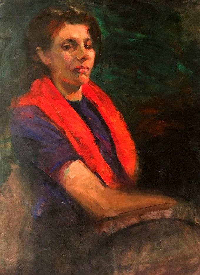 Hanaa malallah, self portrait