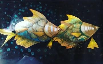 الأسماك، تشكيليات عراقيات وأردنيات، بشرى الخطيب