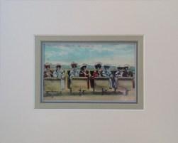 Atlantic City Boardwalk Rolling Chair Vintage Postcard- $30