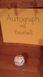 autograph the baseball