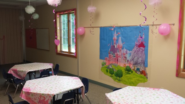 princess camp decorations