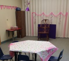 princess table and story area
