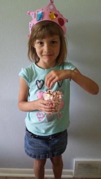 princess tiara and popcorn